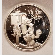 2017 'Tis The Season 1 oz .999 Fine Silver Bullion Coin