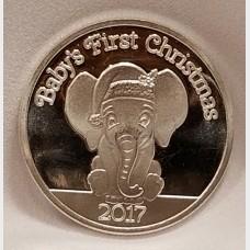 2017 Baby's 1st Christmas 1 oz .999 Fine Silver Bullion Coin