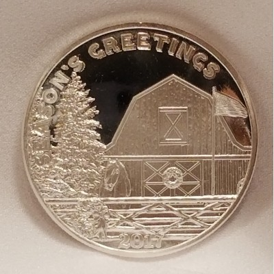 2017 Season's Greetings 1 oz .999 Fine Silver Bullion Coin