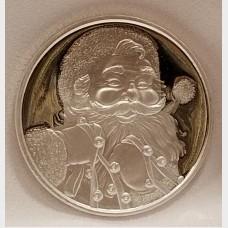 2017 Christmas Santa Clause 1 oz .999 Fine Silver Bullion Coin