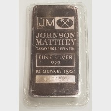 Johnson Matthey JM Silver 10 ozt Bar
