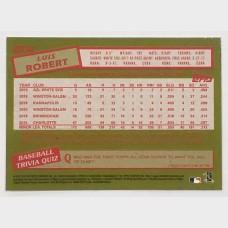 Luis Robert Chicago White Sox 2020 Topps Chrome Refractor RC Baseball Card
