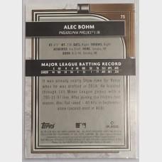 Alec Bohm Philadelphia Phillies 2021 Topps Museum RC Baseball Card