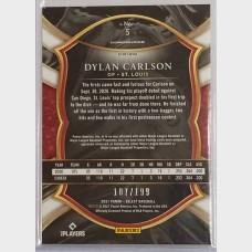Dylan Carlson St. Louis Cardinals 2021 RC Baseball Card Red Prizm /199
