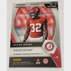 Dylan Moses Panini Draft Picks Hyper Prizm RC Auto Card