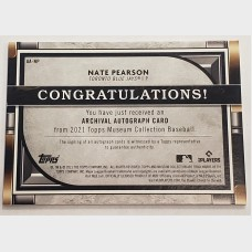Nate Pearson Topps Museum Collection Autograph Baseball Card