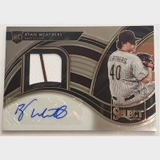 Ryan Weathers San Diego Padres RC Panini Select Patch Auto Card
