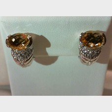 Judith Ripka Citrine Earrings