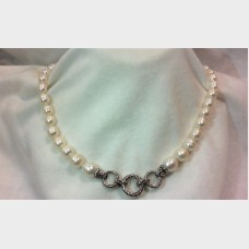 Barbara Bixby Freshwater Cultured Pearl Enhancer Sterling Silver