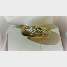 David Yurman 18K Yellow Gold and Sterling Silver Band