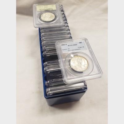 Walking Liberty Halves 20 Coin Short Set (1941-1947)