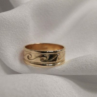 14K Men's Yellow Gold Band