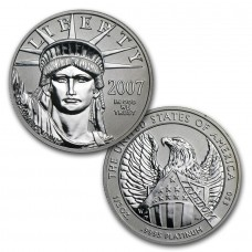 2007 Platinum American Eagle 10th Anniversary 2 Coin Set
