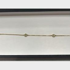14K Yellow Gold Five-Diamond Link Bracelet