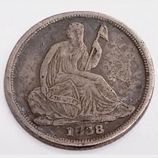 1838-O Seated Liberty Silver Half Dime F KEY DATE