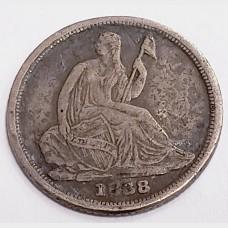1838-O Seated Liberty Silver Half Dime F RAW