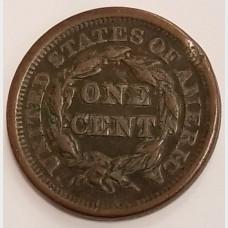 1846 Braided Hair Matron Head Large Cent VF RAW