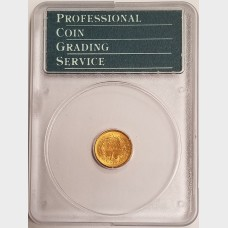 1852 $1 Gold Liberty Head Coin PCGS AU58 OGL Rattler