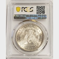 1878 Morgan Silver Dollar 7TF Reverse of 1879 PCGS MS64