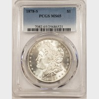 1878-S Morgan Silver Dollar PCGS MS65