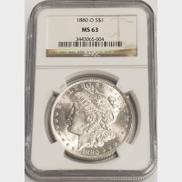 1880-O Morgan Silver Dollar NGC MS63