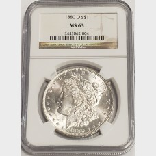 1880-O Morgan Silver Dollar NGC MS63