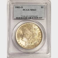 1883-O Morgan Silver Dollar PCGS MS63