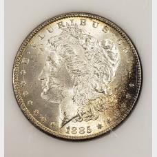 1885 Morgan Silver Dollar CH BU RAW
