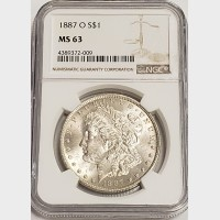 1887-O Morgan Silver Dollar NGC MS63