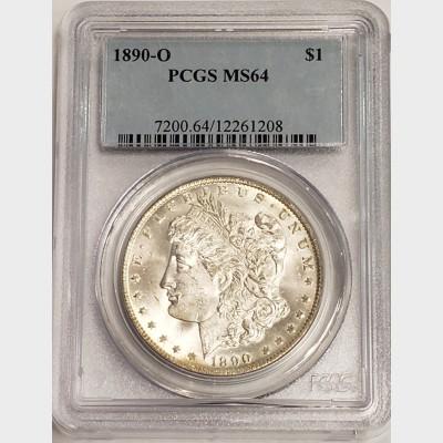 1890-O Morgan Silver Dollar PCGS MS64