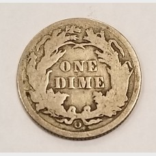 1891-0 Seated Liberty Silver Dime 10¢ VG RAW