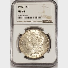 1902 Morgan Silver Dollar NGC MS63