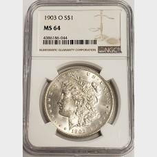 1903-O Morgan Silver Dollar NGC MS64