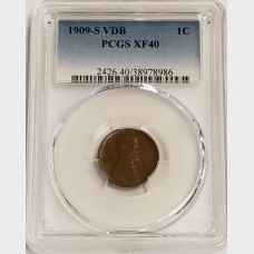 1909-S VDB Lincoln Wheat Cent PCGS XF40