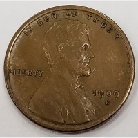 1909-S VDB Lincoln Wheat Cent VF-35 RAW