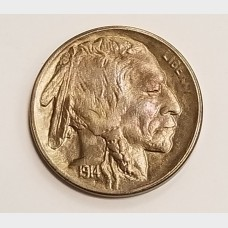 1914-S Buffalo Nickel AU+ RAW