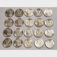 1921 Morgan Silver Dollars Tube of 20 AU