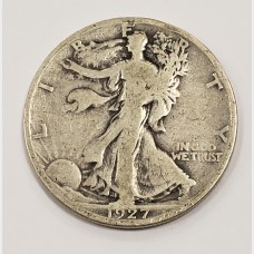 1927-S Walking Liberty Half Dollar VG10 RAW