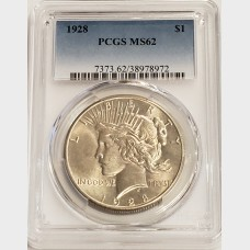 1928 Peace Dollar PCGS MS62