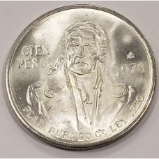 1978 Mexico Cien 100 Silver Pesos UNC / BU