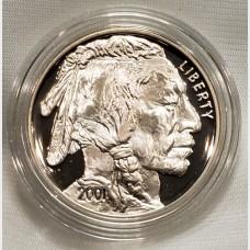 2001 Indian Buffalo Silver Proof Coin Box COA