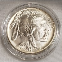 2001 Indian Buffalo Silver Uncirculated Coin Box COA