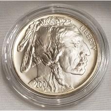 2001 Indian Buffalo Silver Uncirculated Coin Box COA
