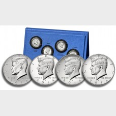 2014 50th Anniversary Kennedy Half Dollar Silver Set BOX COA