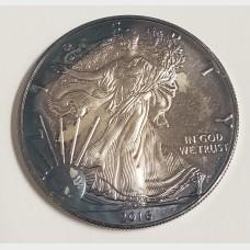2016 Toned American Silver Eagle