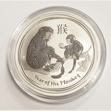 2016 Australia Year of the Monkey Silver 1/2 oz Coin