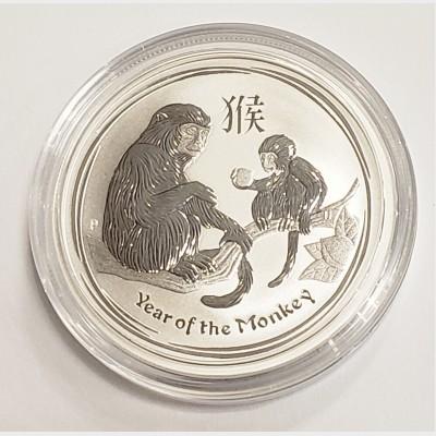 2016 Australia Year of the Monkey Silver 1/2 oz Coin
