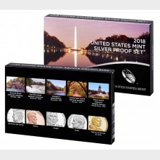 2018-S United States Mint Silver Proof Set