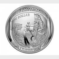 2019 Apollo 11 50th Anniversary Proof Silver Dollar