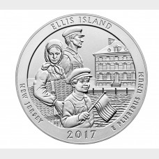 2017 Ellis Island Uncirculated Five Ounce Silver Coin